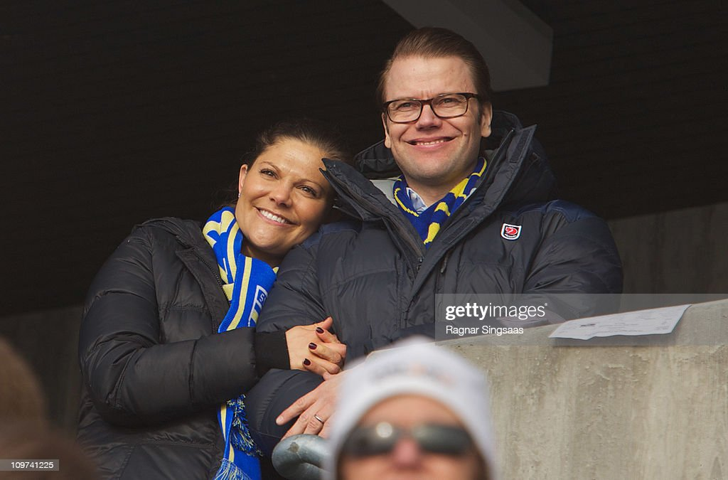 Princess Victoria of Sweden and Prince Daniel of Sweden attend the Ladies Relay 4x5km Classic/Free race during he FIS Nordic World Ski Championships 2011 at Holmenkollen on March 3, 2011 in Oslo, Norway.