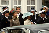 Princess Victoria of Sweden arrives at Toldbodgade Harbour on May 9 2007 in Copenhagen Denmark King Carl XVI Gustaf of Sweden Queen Silvia of Sweden...