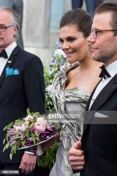 Princess Victoria of Sweden attends an award ceremony for the Polar Music Prize at Konserthuset on June 15 2017 in Stockholm Sweden