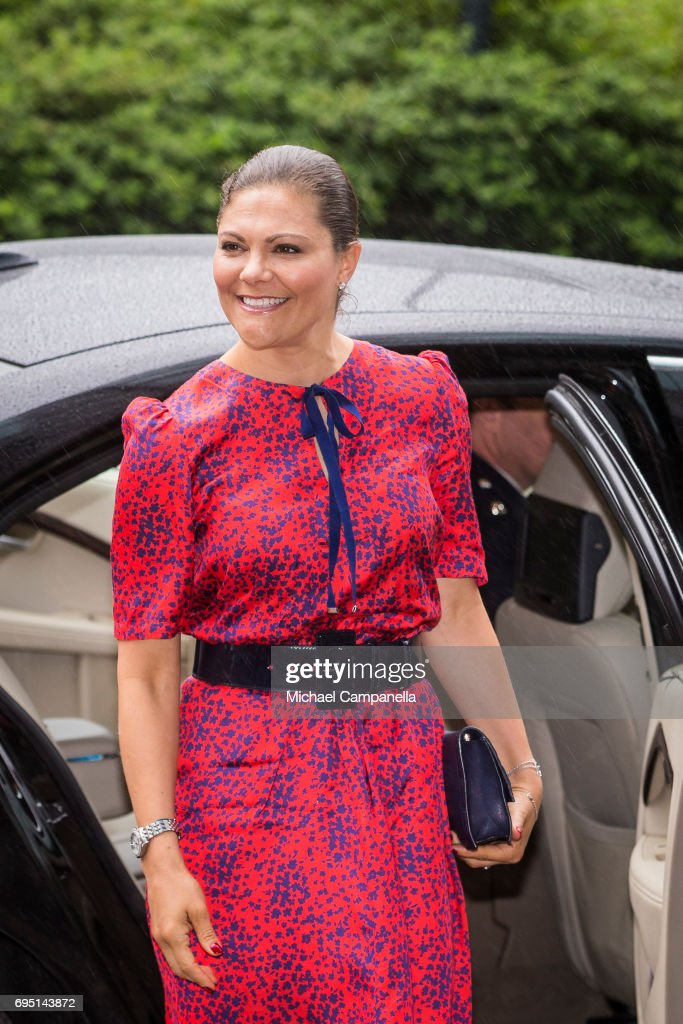 Princess Victoria of Sweden attends EAT Stockholm Food Forum at the Clarion Hotel Sign on June 12, 2017 in Stockholm, Sweden.