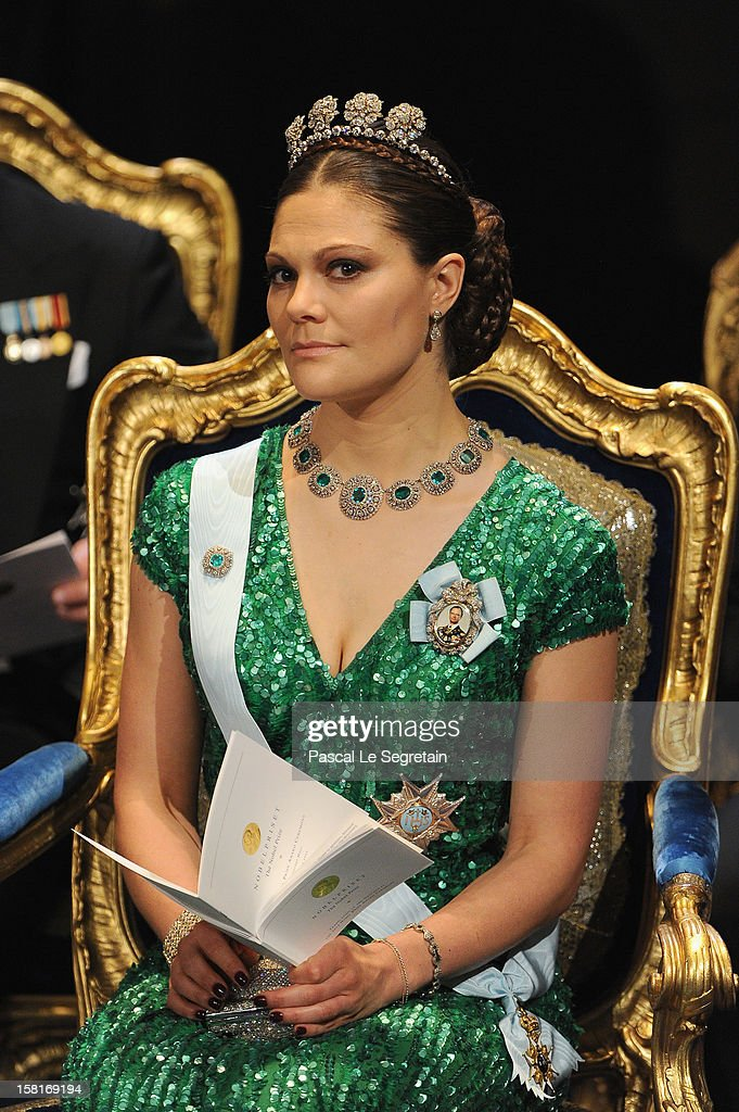 Princess Victoria of Sweden attends the 2012 Nobel Prize Award Ceremony at Concert Hall on December 10, 2012 in Stockholm, Sweden.