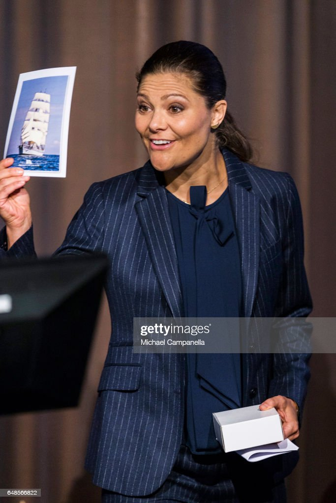 Princess Victoria of Sweden attends the inauguration of the 2017 Baltic Sea Future congress held at the Stockholm International Fairs & Congress Centre on March 6, 2017 in Stockholm, Sweden.