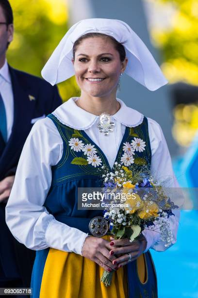 Princess Victoria of Sweden during the national day celebrations at Skansen on June 6 2017 in Stockholm Sweden