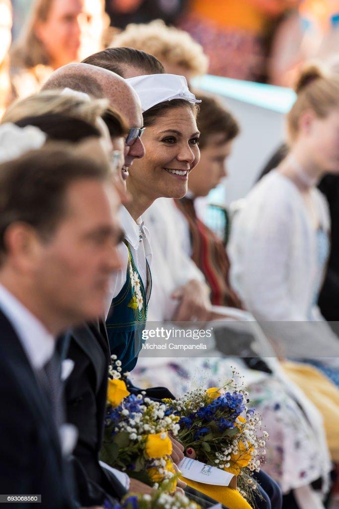Princess Victoria of Sweden during the national day celebrations at Skansen on June 6, 2017 in Stockholm, Sweden.