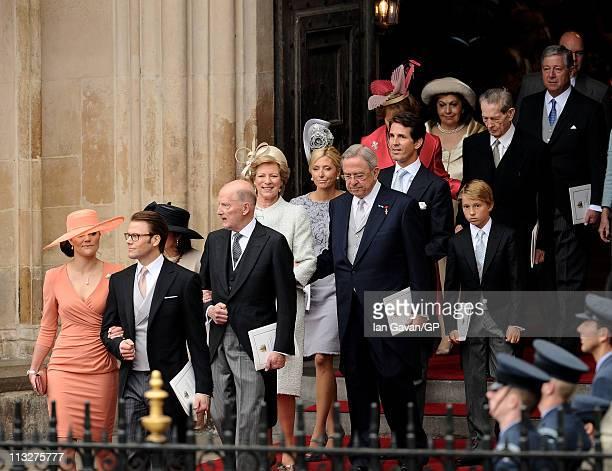 Princess Victoria of Sweden Prince Daniel of Sweden Margarita GomezAcebo y Cejuela Simeon SaxeCoburgGotha Former King Constantine II of Greece...