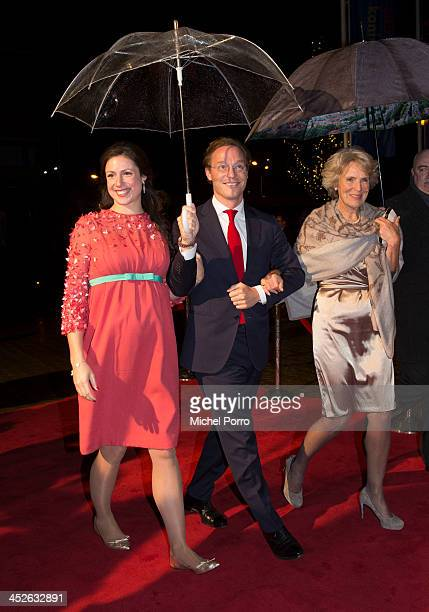 Princess Viktoria de Bourbon de Parme Prince Jaime de Bourbon de Parme and Princess Irene of The Netherlands arrive at the Circus Theatre for...