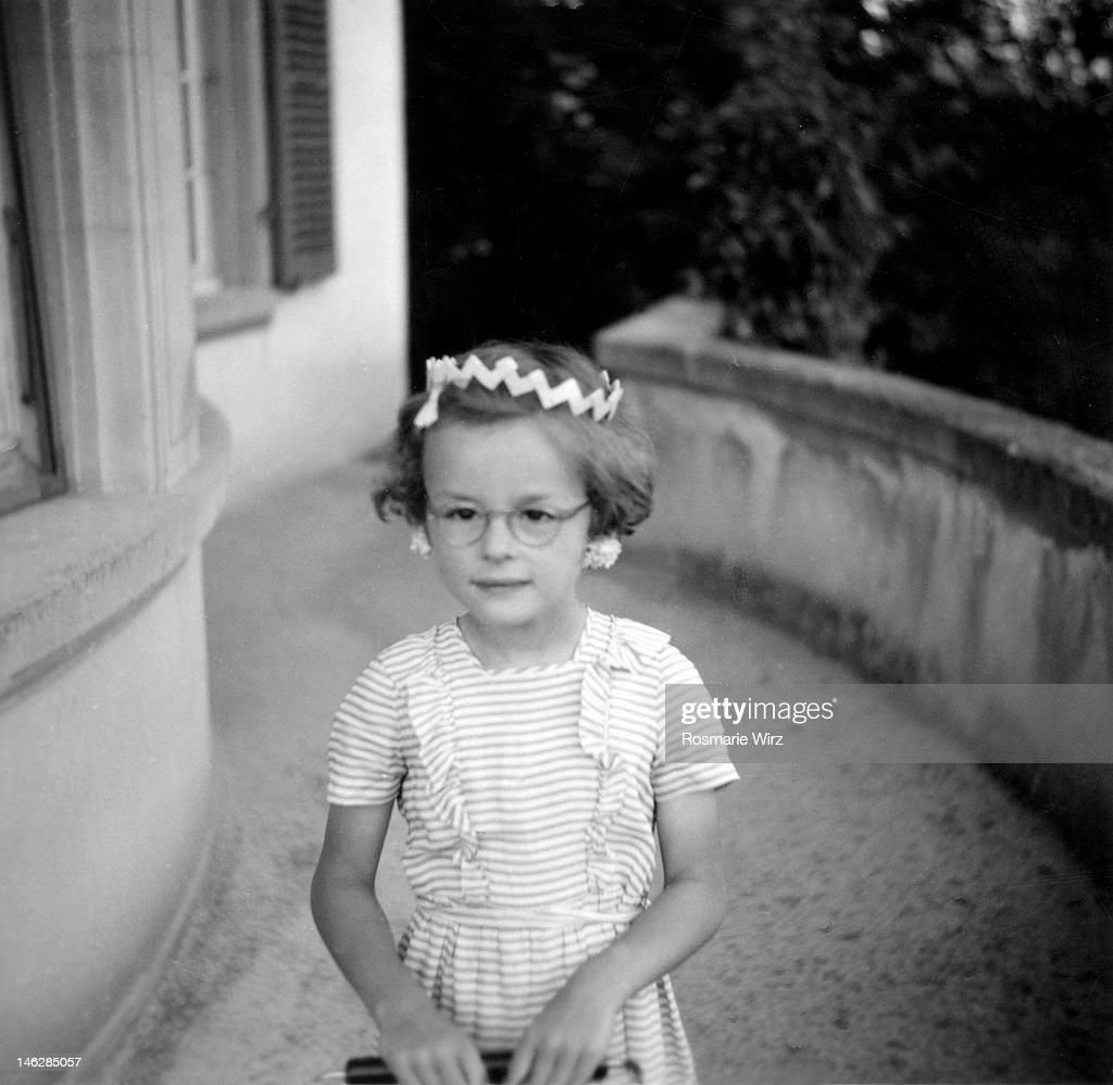 Princess with paper crown : Stock Photo