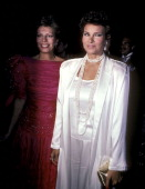 Princess Yasmin Aga Khan and actress Raquel Welch attend the First Annual Rita Hayworth Gala to Benefit Alzheimer's Association on May 20 1985 at The...