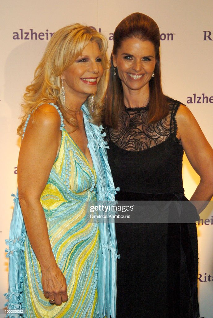 Princess Yasmin Aga Khan and Maria Shriver during 20th Annual Rita Hayworth Gala Arrivals at Waldorf Astoria in New York City New York United States