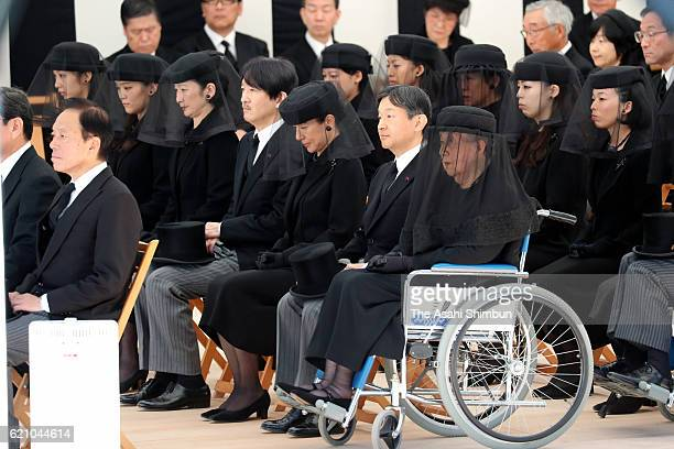 Princess Yuriko of Mikasa chief mourner Crown Prince Naruhito Crown Princess Masako Prince Akishino Princess Kiko of Akishino Princess Mako of...