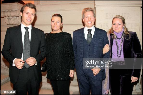 Princesse Isabelle De Liechtenstein with children Prince Wenceslas and Prince Alexandre and wife Astrid at Pascal Renouard De Valliere Appointed...