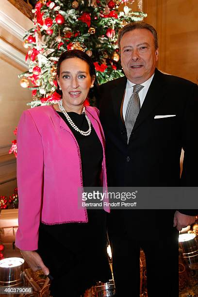 SAR Princesse Tania de Bourbon Parme and Louis Arnaud L'Herbier attend The Children for Peace Gala at Cercle Interallie on December 12 2014 in Paris...