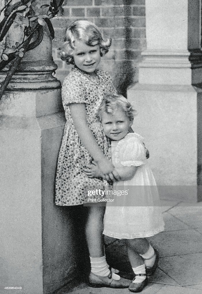 Princesses Elizabeth and Margaret Rose The future Queen Elizabeth II seen here aged six with her younger sister Princess Margaret aged two A...