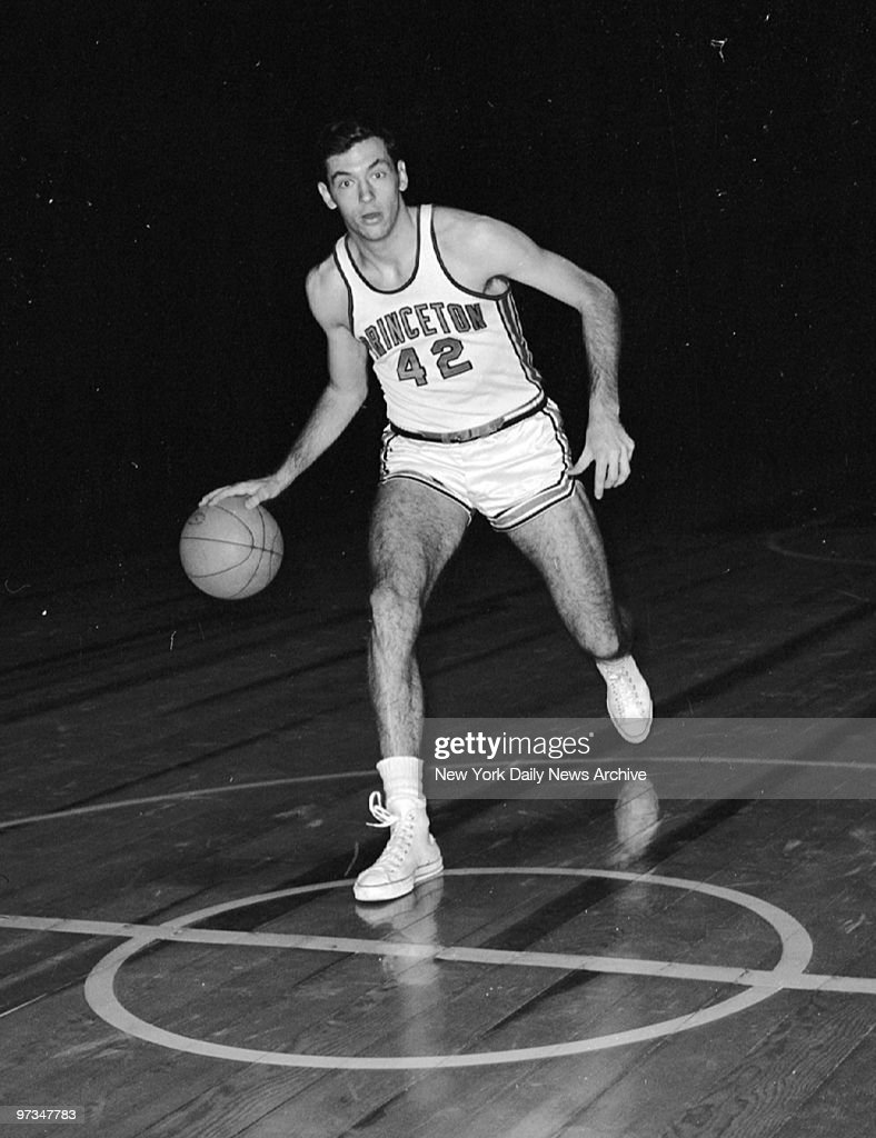 Princeton basketball star Bill Bradley during team practice