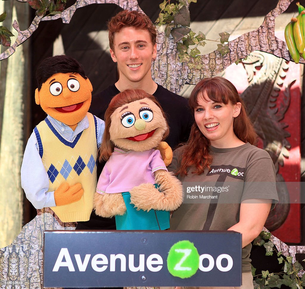 Princeton, Darren Bluestone, of Avenue Q and Kate Monster of Avenue Zoo visit at Bronx Zoo on July 12, 2012 in New York City.