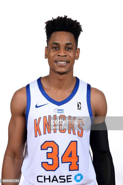 Princeton Onwas of the Westchester Knicks poses for a head shot during the NBA GLeague media day on October 31 2017 in Tarrytown New York NOTE TO...