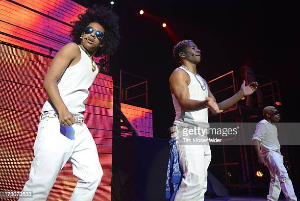 Princeton Roc Royal and Prodigy of Mindless Behavior perform part of the group's All Around The World Tour at The Paramount Theatre on July 5 2013 in...