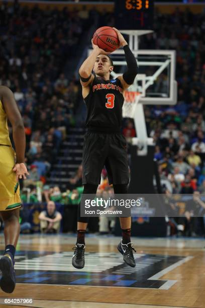 Princeton Tigers guard Devin Cannady shoots during the NCAA Division I Men's Basketball Championship first round game between Princeton Tigers and...
