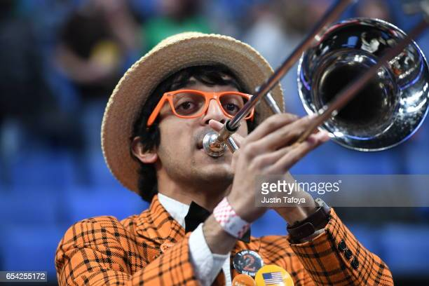 Princeton University pep band during the first round of the 2017 NCAA Men's Basketball Tournament held at KeyBank Center on March 16 2017 in Buffalo...