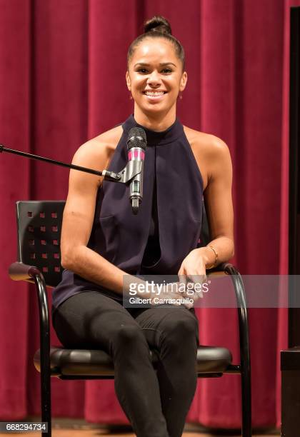 Principal American Ballet Theatre ballerina Misty Copeland signs copies of her new book 'Ballerina Body Dancing And Eating Your Way To A Leaner...