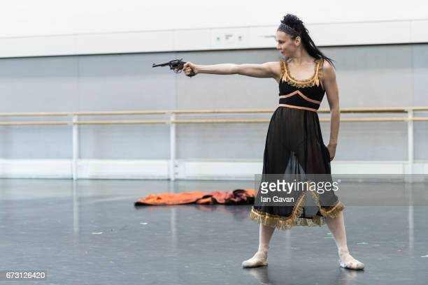 Principal ballerina Natasha Osipova from the Royal Ballet rehearses 'Mayerling' at The Royal Opera House on April 25 2017 in London United Kingdom...