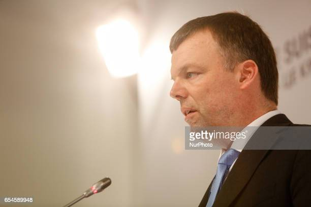 Principal Deputy Chief Monitor of the OSCE Special Monitoring Mission to Ukraine Alexander Hug gaves a press conference in Kyiv Ukraine March 17 2017...