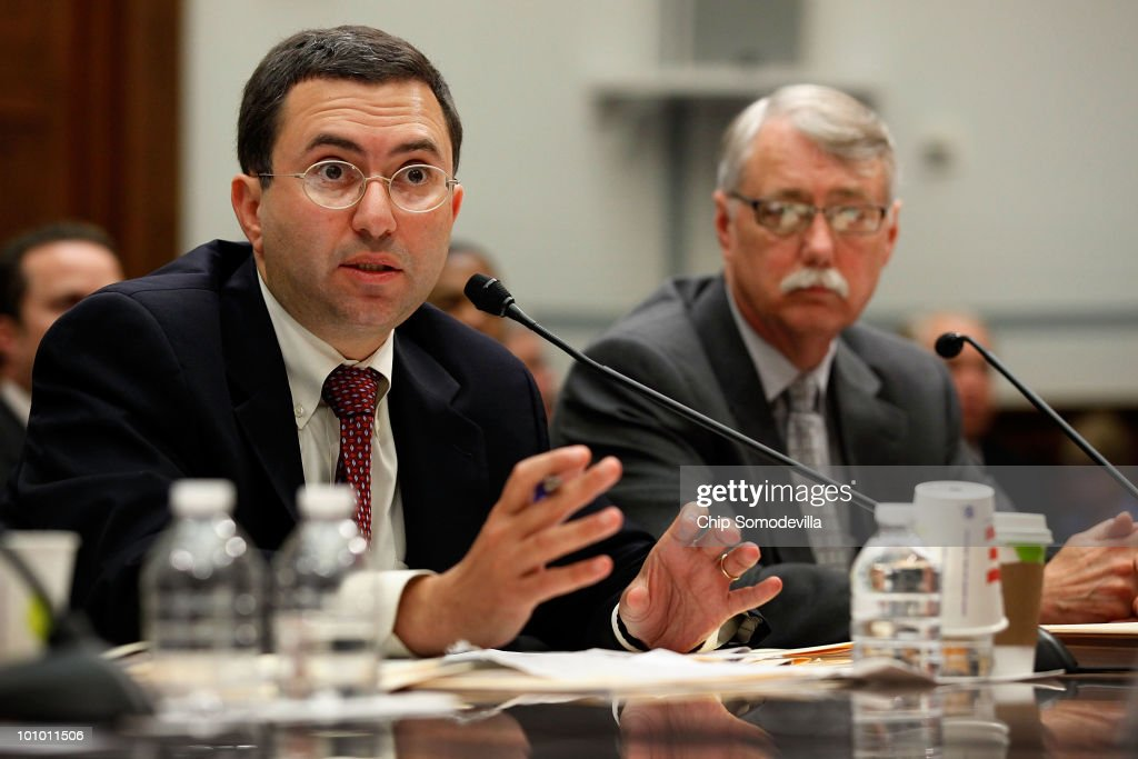 Principal Deputy Food and Drug Administration (FDA) Commissioner Joshua Sharfstein (L) and Acting Associate FDA Commissioner for Regulatory Affairs Michael Chappell testify before the House Oversight and Government Reform Committee May 27, 2010 in Washington, DC. The FDA officials testified about the circumstances surrounding the voluntary recall of over 40 over-the-counter variations of infant and children's medicines produced by Johnson & Johnson/McNeil Consumer Healthcare.