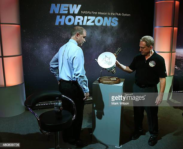 Principal Investigator Alan Stern and scientist John Grunsfeld discuss the latest image from the New Horizons spacecraft that passed with 7800 miles...