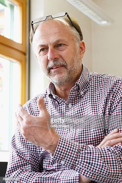 Principal Josef Steinberger speaks during an interview at Volksschule on May 14 2014 in Bad Mitterndorf Austria Bad Mitterndorf is the hometown of...