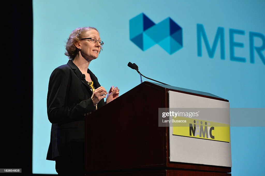 Principal of Merdcer Gail Greenfield speaks onstage at the 2013 WICT Leadership Conference at the New York Marriott on October 8, 2013 in New York City.