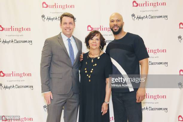 Principal of Renaissance School of Arts Brian Bradley musican/actor Common and Dr Mahalia Hines attend AdoptAClassroom Event at Renaissance School of...