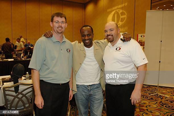 Principal WCOFF owner Dustin Ashby Julian Curry and Principal WCOFF owner Jesse Herron attend the 2008 World Championship of Fantacy Football...