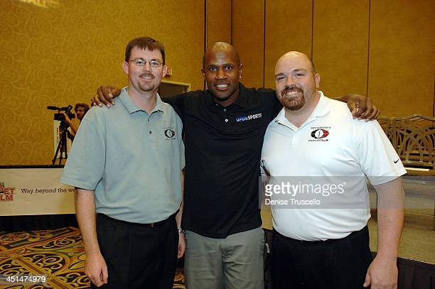 Principal WCOFF Owner Dustin Ashby professional football player Todd Lyght and Principal WCOFF Owner Jesse Herron attend the 2008 World Championship...