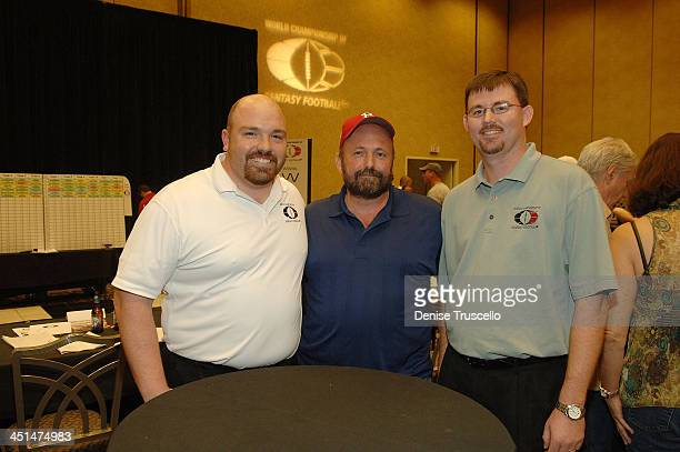 Principal WCOFF Owner Jesse Herron professional poker player Dennis Phillips and Principal WCOFF Owner Jesse Herron attend the 2008 World...