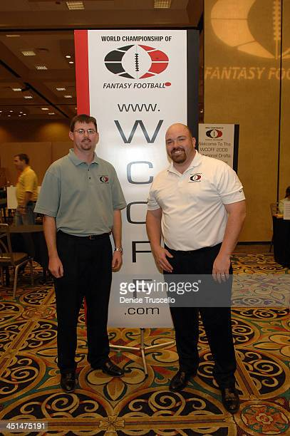 Principal WCOFF Owners Dustin Ashby and Jesse Herron attend the 2008 World Championship of Fantacy Football Celebrity League at the Hilton Hotel and...