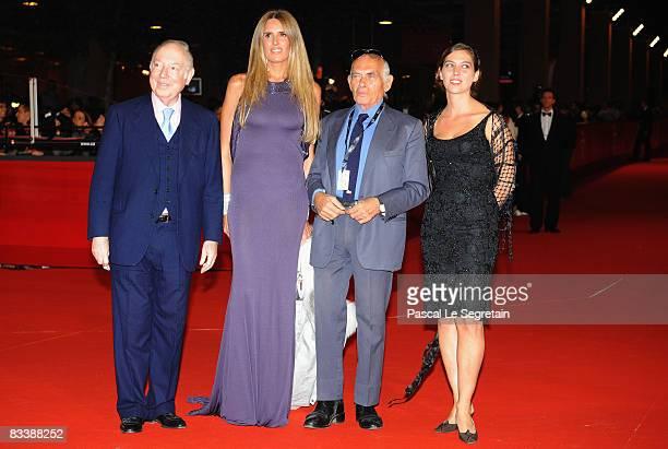 Principe Carlo Giovanelli Tiziana Rocca Director Pasquale Squitieri and daughter Claudine Squitieri arrive at the Marc'Aurelio Acting Award during...