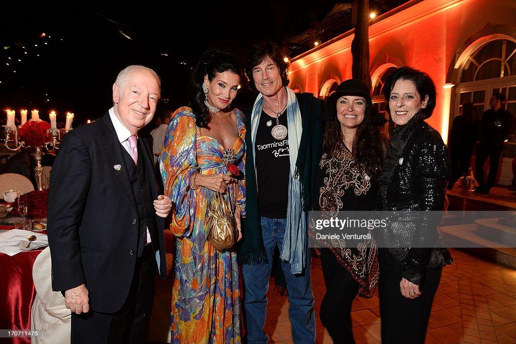 Principe Carlo Giovannelli, Lamia Khashoggi, Ronn Moss, Devin DeVasquez and Debra Mace attend Taormina Filmfest and Prince Albert II Of Monaco Foundation Gala Dinner at on June 16, 2013 in Taormina, Italy.