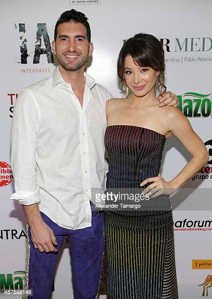 Principe Karim Abu and Katherine Castro are seen at the Cinemaforum and Fine Arts special screening of Katherine Castro's 'The Social Contract' on...