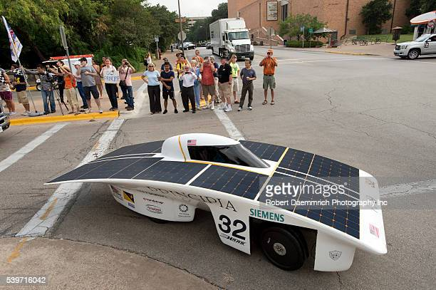 Principia College of Elsah IL begins the American Solar Challenge on the University of Texas at Austin campus The 1700mile eight day race ends in...
