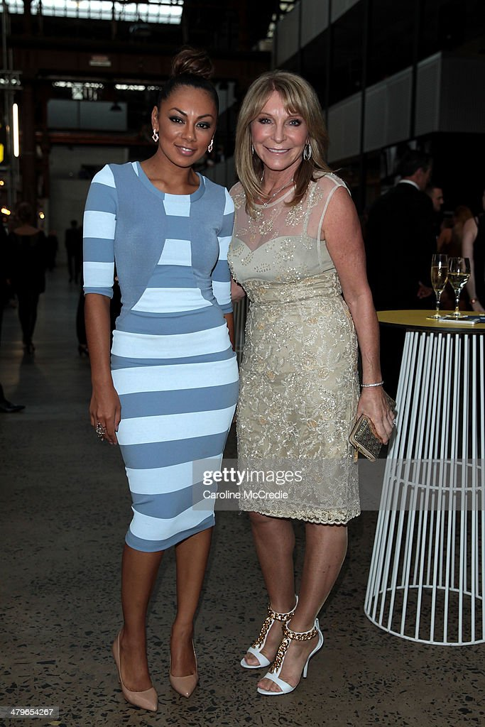 Prinnie Stevens and Bonnie Lythgoe pose before the 12th ASTRA Awards at Carriageworks on March 20, 2014 in Sydney, Australia.