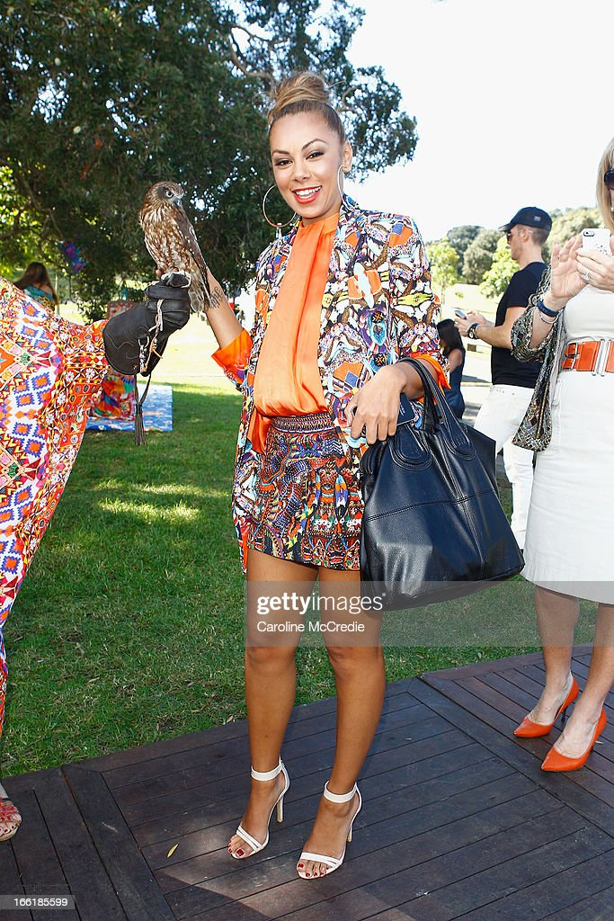 Prinnie Stevens attends the Camilla show during Mercedes-Benz Fashion Week Australia Spring/Summer 2013/14 at Centennial Park on April 10, 2013 in Sydney, Australia.