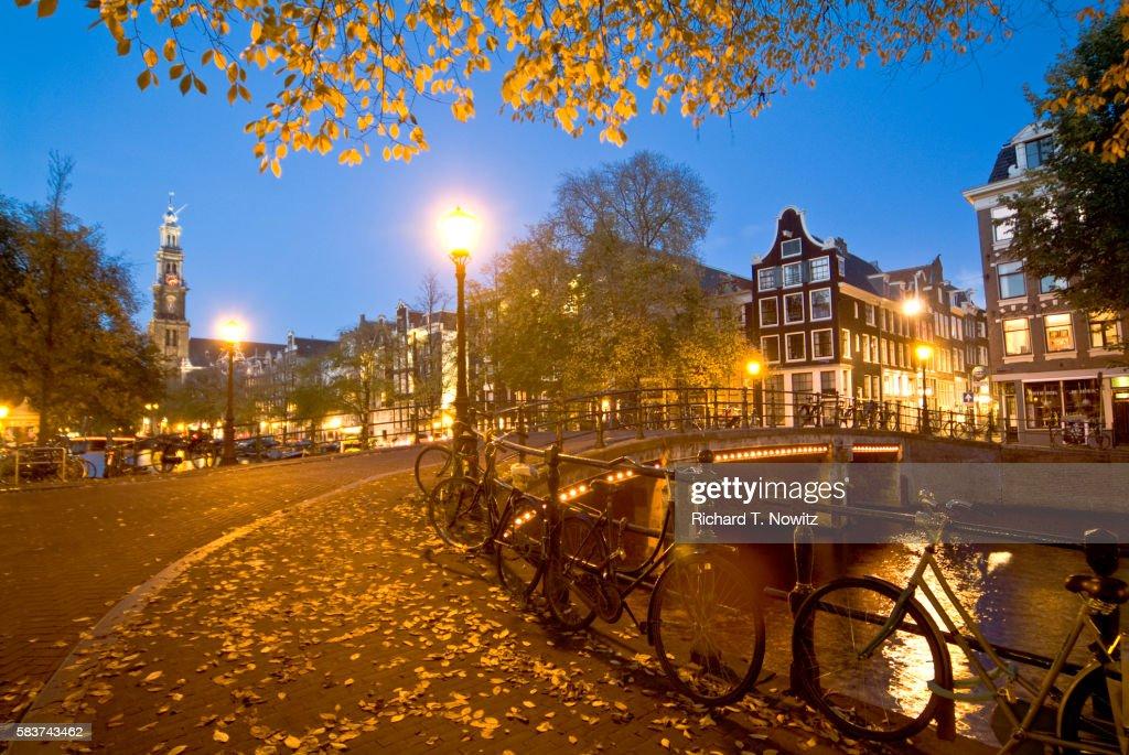 Prinsengracht Canal and Westerkerk Church