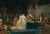Print by Jean Pierre Marie Jazet after the The Divorce of the Empress Josephine by Henri Frederic Schopin