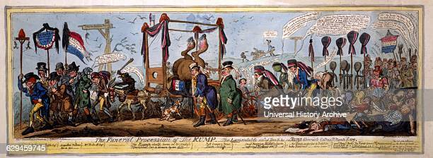 Print etching of a satire on the defeat of Hobhouse by Lamb at the Westminster Election The Rump or remnant of Reformers is represented by the...