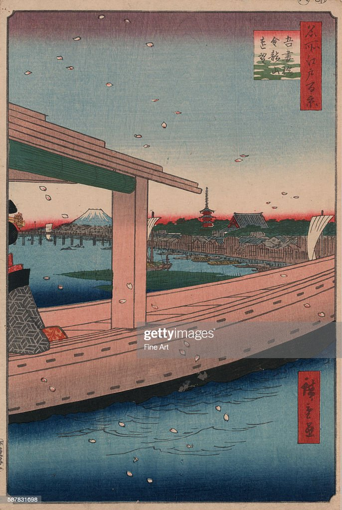A print from the series One Hundred Famous Views of Edo by Hiroshige | Located in Library of Congress