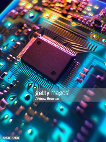 Printed Circuit Board. The central processing unit interprets and executes software instructions