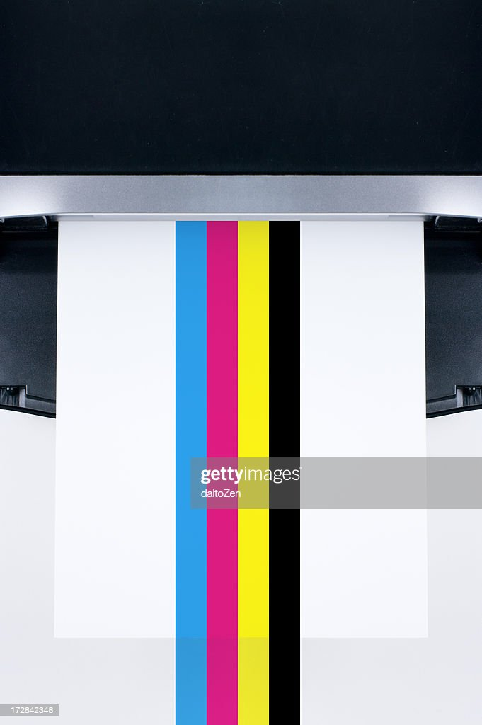 Printer with CMYK color