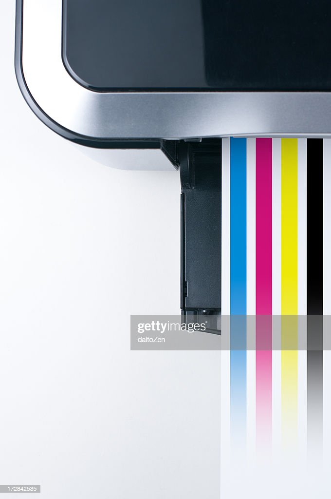 Printer with CMYK colors