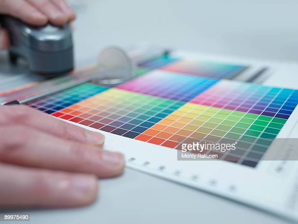 Printer With Colour Reference Card