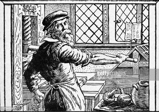 Printer with printing press Renaissance period